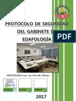 Protocolo de Seguridad Gabinete de Edafología
