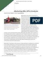 McDonald's Marketing Mix (4Ps) Analysis