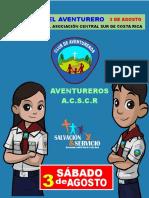 Programa Sugerido Dia Del Aventurero A.C.S.C.R 3 de Agosto