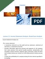 Course 11 Finance