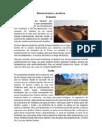 Biomas Terrestres y Acuáticos