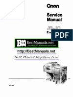Service manual Onan