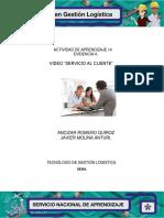 """Evidencia 4 Video """"Servicio Al Cliente"""""""