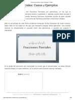 Fracciones Parciales_ Casos y Ejemplos - Lifeder