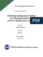Marketing Seminar Report