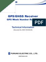 Furuno GNSS Receiver WeekNumberRollover SE18-100-034-00 En