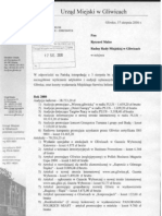 Odpowiedź UM na interpelację media - VIII 2006 r.