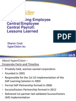 HyperCision HR2014 Implementing-Employee Central Employee Central Payroll-Lessons Learned