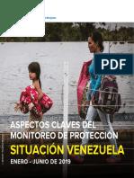 Aspectos Claves del monitoreo de protección situación Venezuela  Enero-Junio 2019