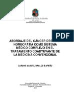 Abpordaje Del Cancer Desde La Homeopatia