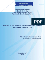 Tcc - As Tutelas de Urgência e Suas Inovações No Novo Sistema Processual Civil