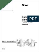 967-0121 Onan DJB DJE Genset Operator's Manual (02-1991)