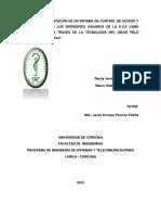 Diseño e Implementación de Un Sistema de Control de Acceso y Citas Médicas