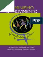 Caderno de apresentação da Marcha Mundial das Mulheres 2019