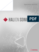 HALion Sonic SE 3 Operation Manual En