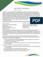 Significant Decisions Index
