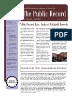 The Public Record Spring 2017