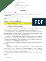 Syllabus Si Tematica Proiecte EPSP