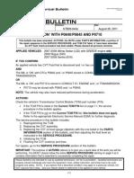 Nissan Bulletin Cvt 2007