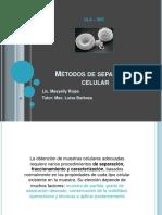métodos de separación celular