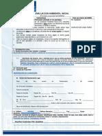 Formato de Ingreso de Evaluacion Ambiental Inicial 2da Av - Copia