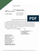 Notice of Resignation