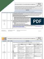 GMP-GI-P-002 Identificación de Aspectos y Evaluación de Impactos Ambientales