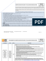 GMP-GI-P-003 Identificación de Peligros y Evaluación de Riesgos