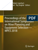 Proceedings of the 27th International Symposium on Mine Planning and Equipment Selection - MPES 2018