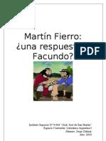 Martín Fierro, una respuesta a Facundo