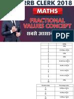 Fractional value s