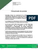 Comunicado-captura de policías por concusión-19-07-2019