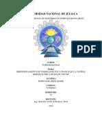 Dimensionamiento de Turbina Pelton y Francis de La Central Hidroeléctrica de Machu Picchu[1]