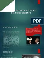 UNIVERSIDAD EN LA SOCIEDAD DEL CONOCIMIENTO