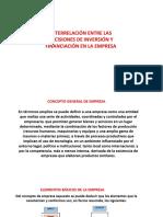 2 Relación Entre Deciciones de Inv y Financiación