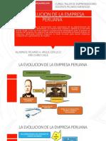 EVOLUCION DE LA EMPRESA PERUANA