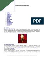 Heroes y Personajes Ilustres Del Peru