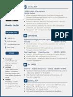 Blue General Personal Resume-WPS Office