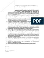 Consolidated Comments and Suggestions of the Validators of the Instruments