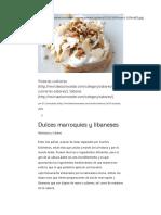 Dulces Delicias Marroquíes y Libaneses - El Conocedor