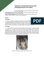 Perioperative Consideration on Premature