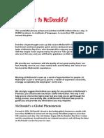 Macdonld's Report