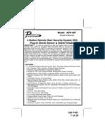 APS997 Car Alarm Manual