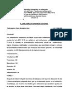 CARACTERIZACIÓN INSTITUCIONAL PNFAE
