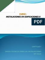 01. Datos Tecnicos Para Las Instalaciones de Agua (Instalaciones en Edificaciones II)