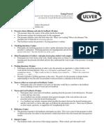 Culver Academies Tuning Protocol