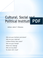 7 Cultural, Social and Political Institutions