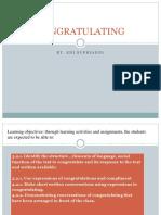 Congratulating Peer Teaching