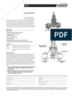 "Series PRV-2 11/4"" – 2"" Specification Sheet"
