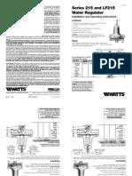 Series 215 and LF215 Water Regulator Installation Instructions